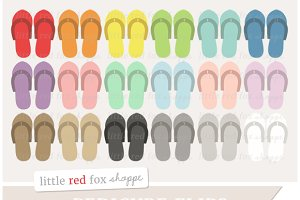 Pedicure Flip Flops Clipart