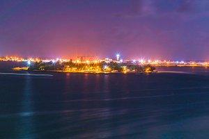 Night View Motion of Male,Maldives