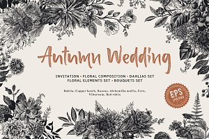 Autumn Wedding. B & W