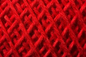 Red yarn close up