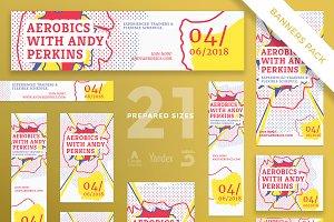 Banners Pack | Aerobics