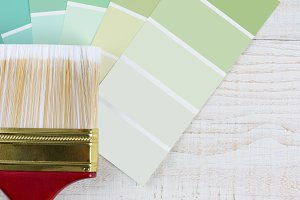 Paint Brush Green Chips