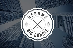 Resume/CV Set Big Bundle 90% OFF