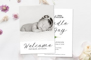 Birth Announcement Template Card