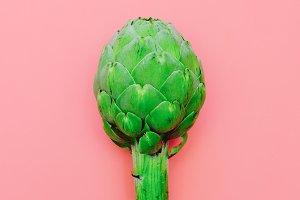 Artichoke. Minimal vegan style