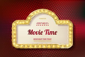Movie time cinema premiere poster