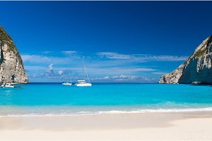 Yachts in the Blue Lagoon