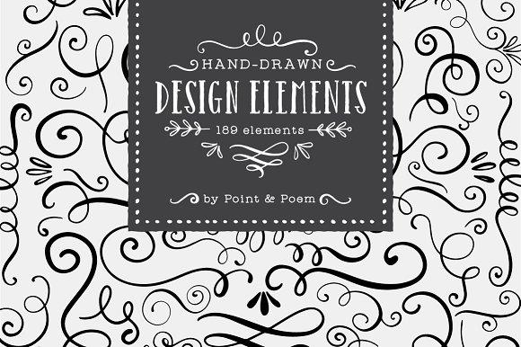 Hand Drawn Vector Design Elements