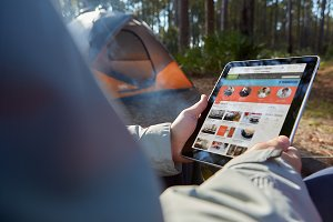 Camping Collection iPad & Tent PSD
