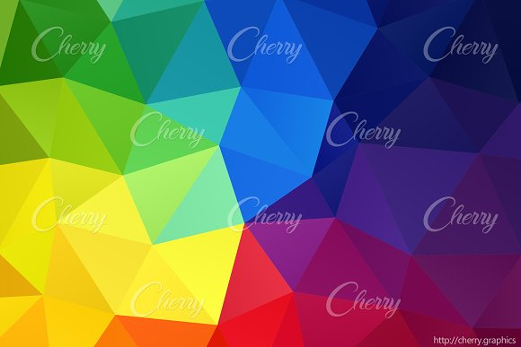 Abstract Rainbow Colors Vector