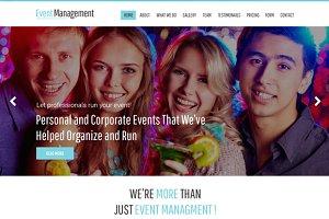 Event Management Bootstrap PSD