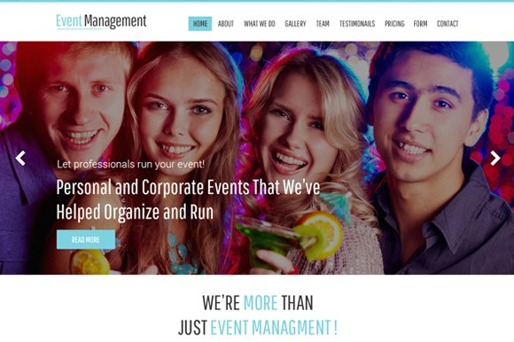 Event Management Bootstrap PSD