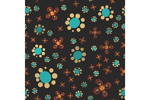 Floral pattern of stylized flowers. Ditsy or Ditzy print. Seamless vector texture. Elegant template for fashion prints.