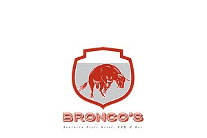 Bronco's Southern Bar and Grill Logo