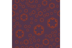 Seamless geometric pattern with violet ornamental patterns. Vector artwork