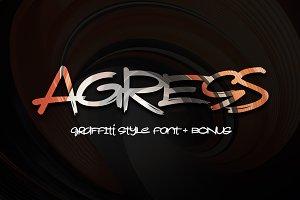 Agress Font + Bonus