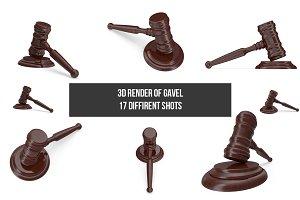 Gavel - 3d render