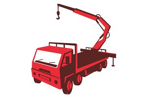 truck mounted crane cartage hoist re