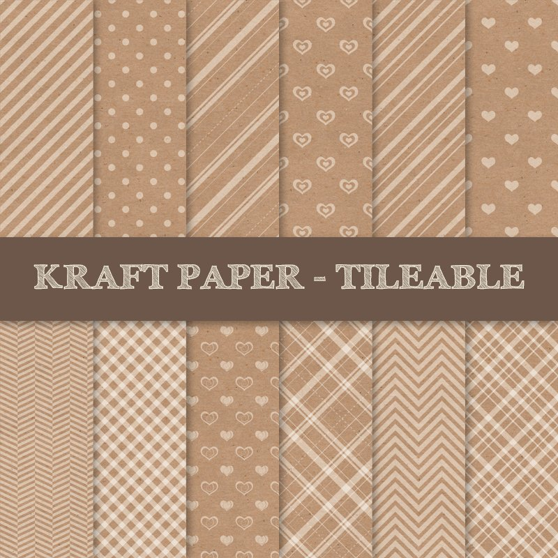 Kraft Paper Texture Patterns Graphic Patterns Creative Market