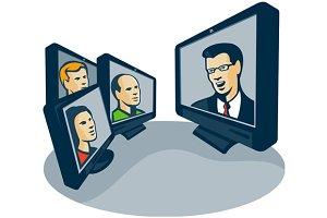 Webinar Video Conference Retro