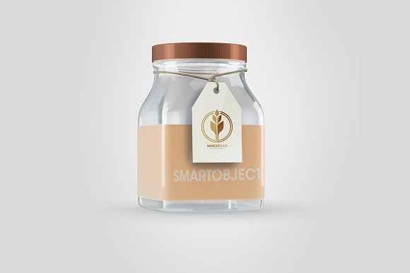 Full Editable Jar Mock-up