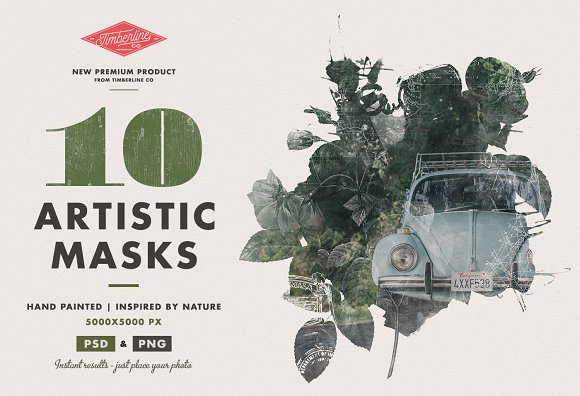 10 Artistic Watercolour Masks