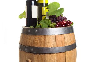 Winery wooden barrel