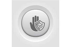 Secured Area Icon. Flat Design.