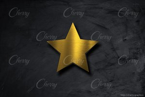 Gold star background
