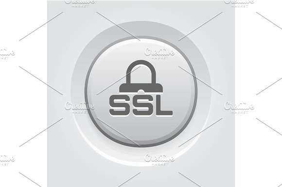 SSL Secured Icon Flat Design