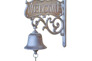 Vintage Decorated Bell Isolated