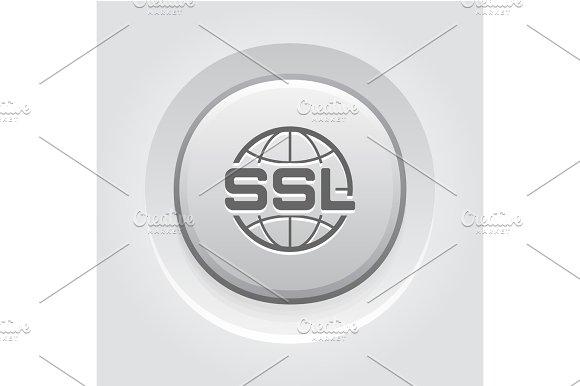 Global SSL Security Icon Flat Design