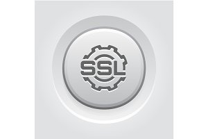SSL Settings Icon. Flat Design.