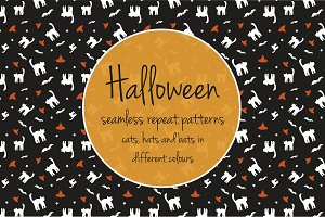 Halloween seemless repeat patterns