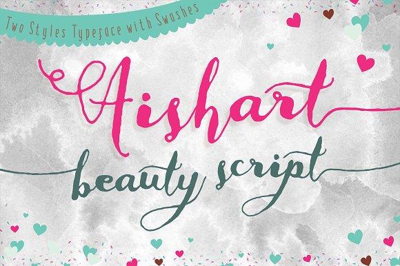 Aishart font modern calligraphy script fonts creative