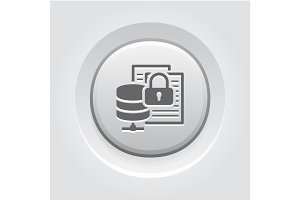 Secure File Storage Icon. Flat Design.