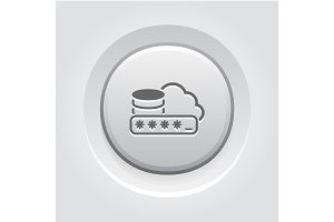 Secure Cloud Storage Icon.