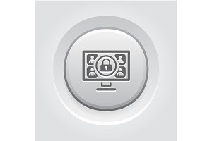Safety Online Meeting Icon.