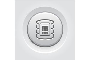Secure Database Icon.