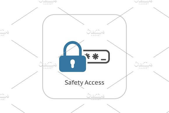 Safety Access And Password Protection Icon