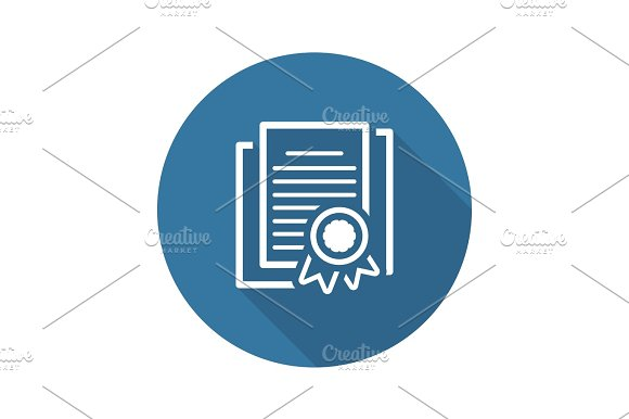 Security Certificates Icon Flat Design