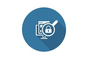 Internet Security Icon. Flat Design.