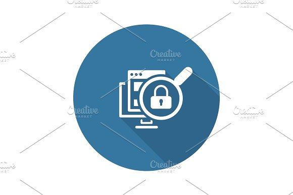 Internet Security Icon Flat Design