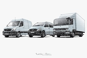 Three Commercial Vehicles