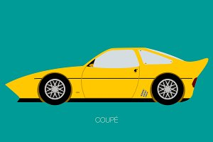 vector coupe car illustration