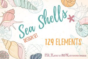 Sea shell design set