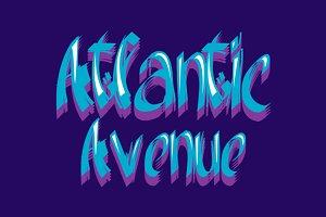 50% OFF - Atlantic Avenue - font