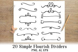20 Simple Flourish Dividers