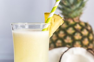 Glass of pina colada