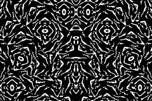Black and White Intricate Abstract Seamless Pattern Design
